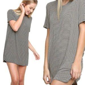 [Brandy Melville] Striped Oversized T-Shirt Dress